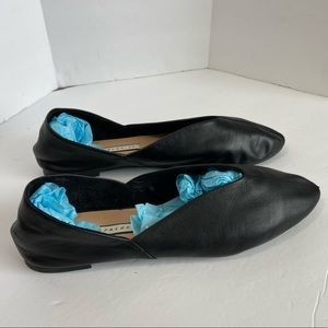 Zara Trafaluc Black Leather Flats